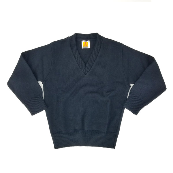 School apparel a+ - navy - v neck - sweater - 100% acrylic - school uniform - style 6500