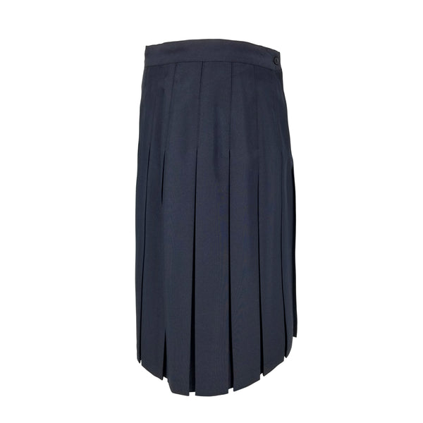 Navy Poly Juniors Style Box Pleated