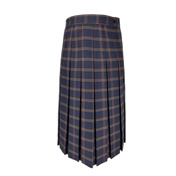 betty z plaid long box pleated uniform skirt