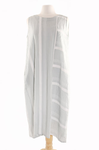 B21010 Robe grise et blanche