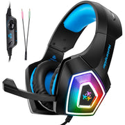 V1 Gaming Headset PS4 Computer Game  Headphones with LED Light - .