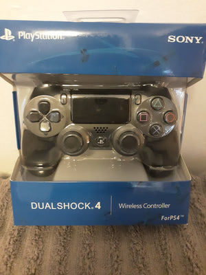 Sony DUALSHOCK 4 Steel Black Wireless Controller { 3 } Day Delivery Priced $44.99