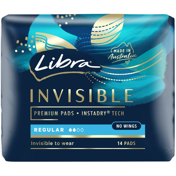 Libra Invisible 14 Regular Pads No Wings
