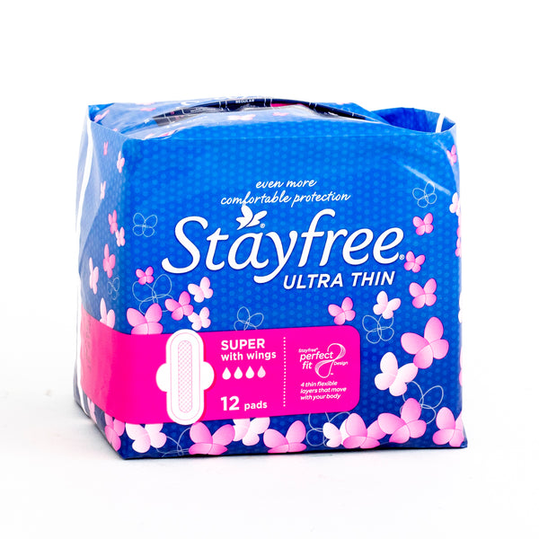 Stayfree Ultra Thin Super With Wings 12 Pads