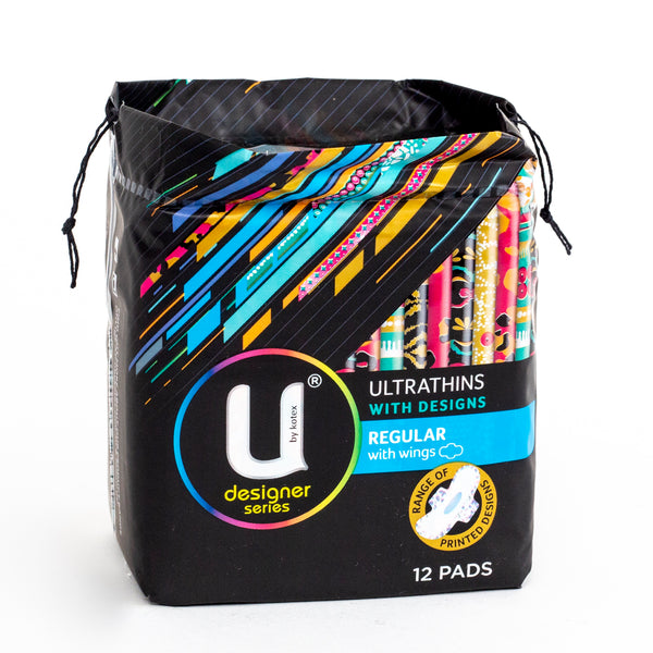 U By Kotex Designer Series Ultrathins Regular with Wings 12 Pads