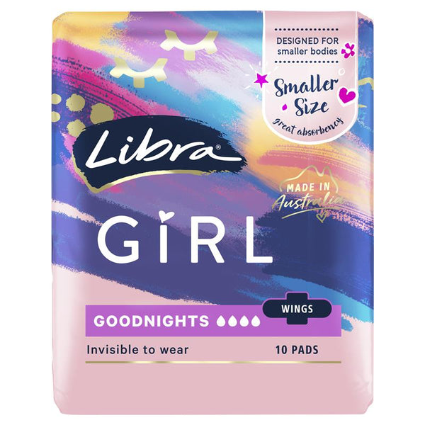 Libra Girl 10 Goodnights Pads With Wings