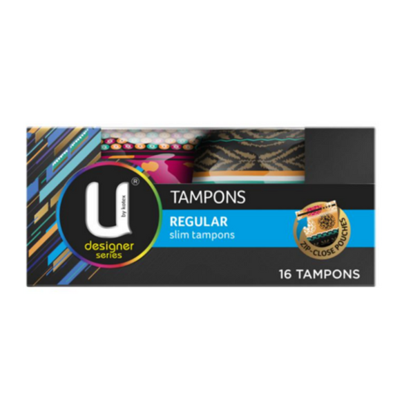 U By Kotex Designer Series Regular Slim Tampons 16 Pack