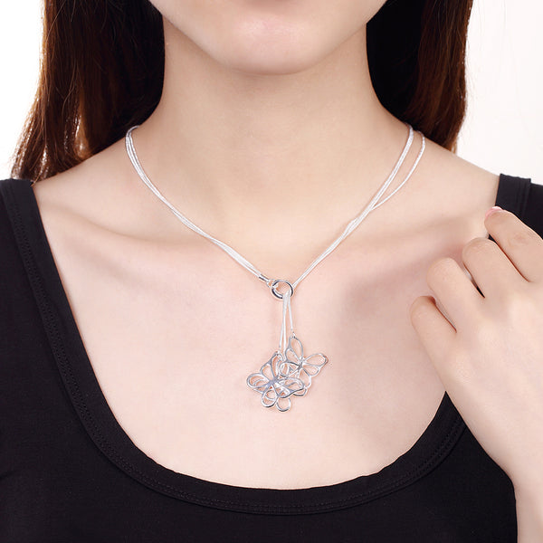 Elegant Butterfly Pendant Necklace - Vitaezen