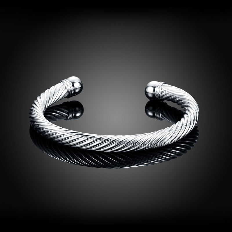 Unisex Twist Bangle Bracelet - Vitaezen