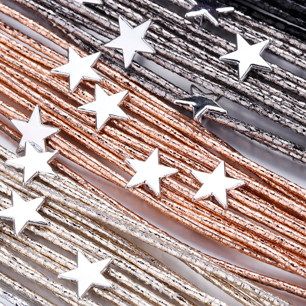 LEATHER STARS BRACELET - Vitaezen