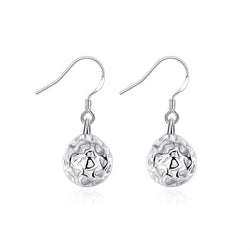 Three-dimensional Silver Plated Earrings - Vitaezen