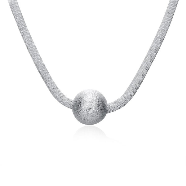 Net Ball Silver Necklace - Vitaezen