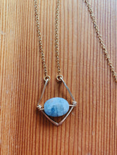 Load image into Gallery viewer, Diamond Labradorite Necklace