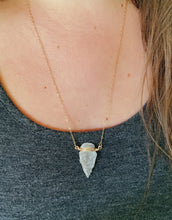 Load image into Gallery viewer, Arrowhead Necklace | Clear Quartz