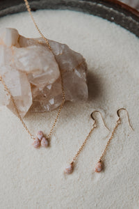 Pink Glass | Triad Necklace