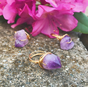 Wire Wrapped Ring | Amethyst