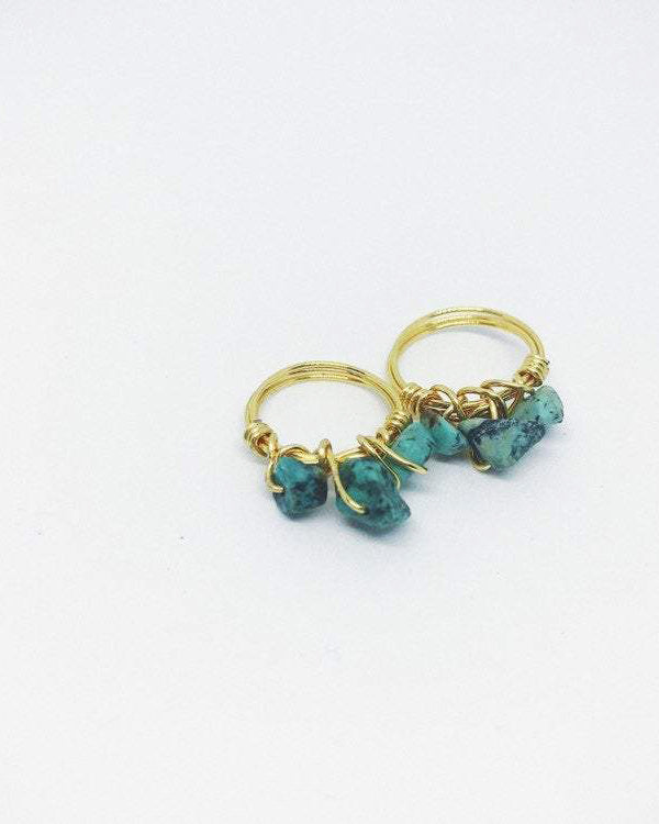 Stackable Wire Wrapped Ring | Turquoise