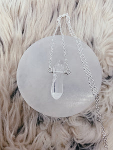 Mineral Necklace | Raw Clear Quartz