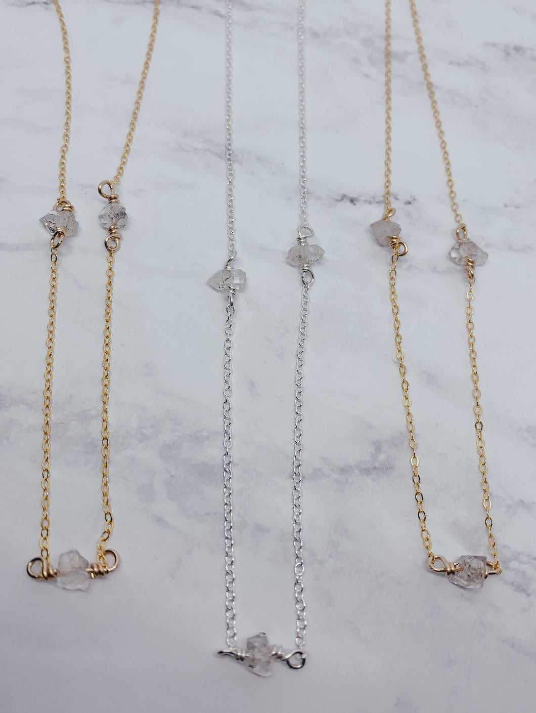 Layer Necklace | Herkimer Diamond