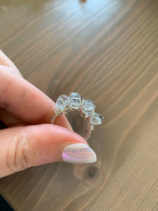 Stackable Wire Wrapped Ring | Herkimer Diamond