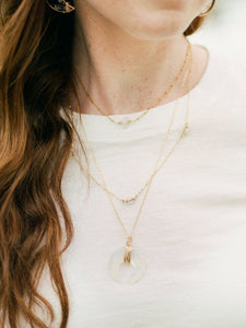 Crescent Necklace | Opalite