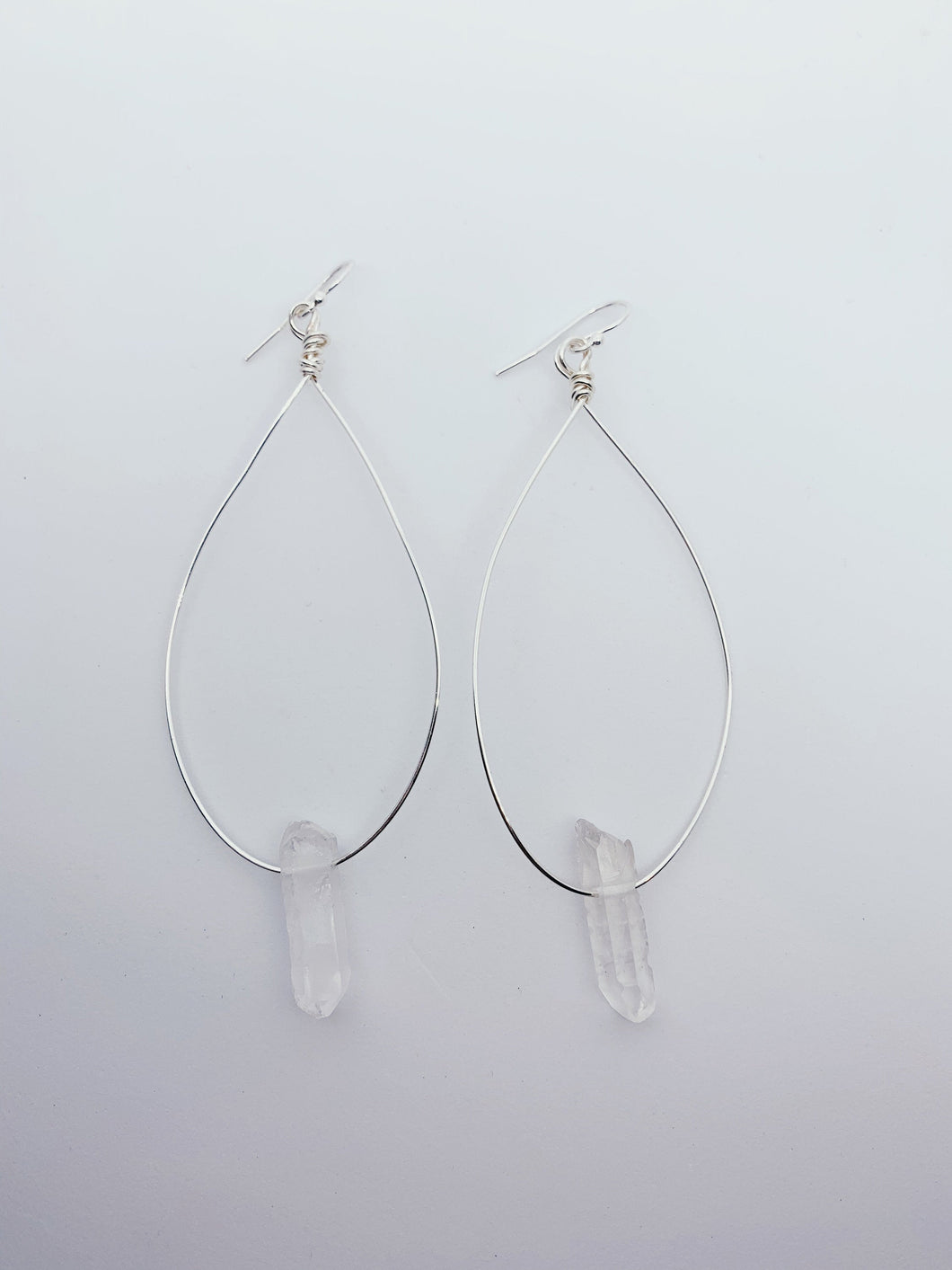 Maura Hoop Earrings | Clear Quartz