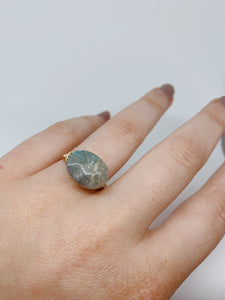 Faceted Wire Wrapped Ring | Labradorite