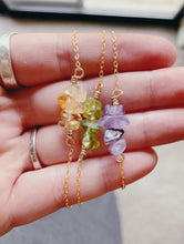 Load image into Gallery viewer, Raw Multi Stone Necklace | Peridot