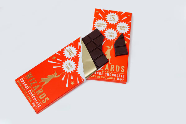The Wizards Magic Chocolate - 55g Bar - Orange