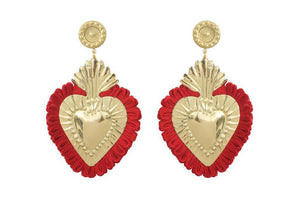 THE HEARTS  GOLD RED  FRINGE