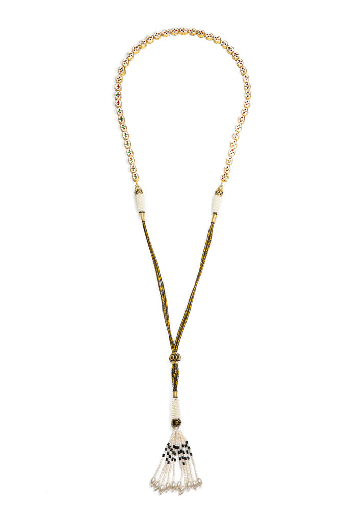 Gypset Rosecut Crystal Necklace black