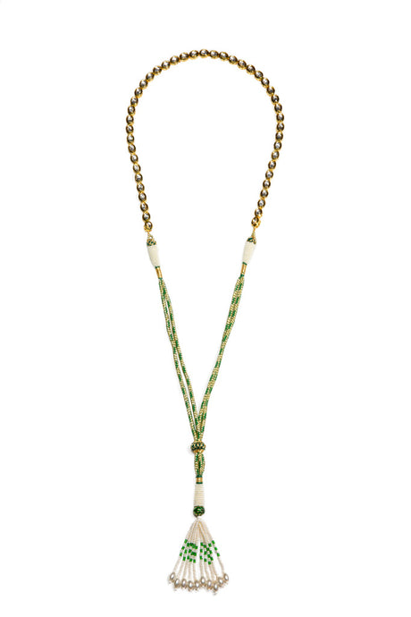 Gypset Rosecut Crystal Necklace green