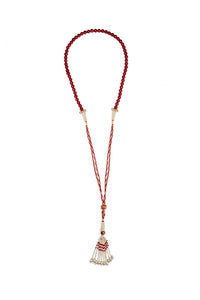 Protective Jade Necklace red