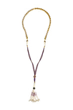 Load image into Gallery viewer, Gypset Rosecut Crystal Necklace purple