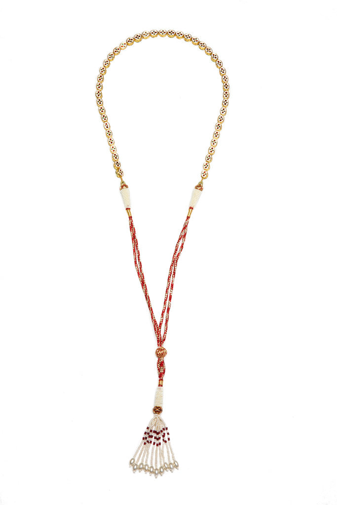 Gypset Rosecut Crystal Necklace red