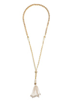 Load image into Gallery viewer, Gypset Rosecut Crystal Necklace white