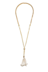 Gypset Rosecut Crystal Necklace white