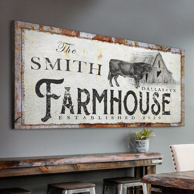 Rustic Farmhouse - Personalized Premium Canvas