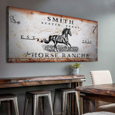 Horse Ranch - Personalized Huge Canvas