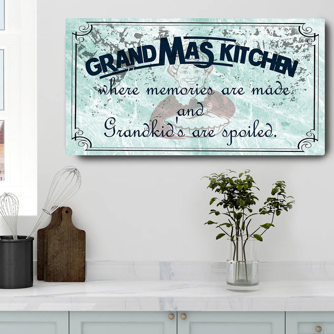 Grandma's Kitchen - Personalized Huge Canvas