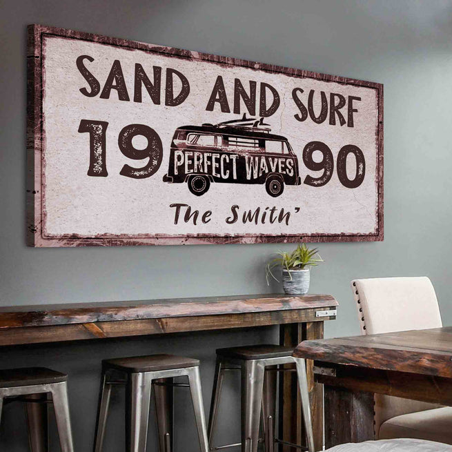 Sand & Surf - Personalized Huge Canvas