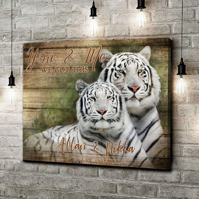We Got This - Personalized Tiger Canvas