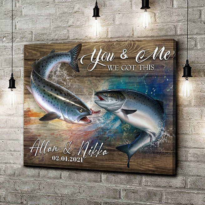 We Got This - Personalized Fish Canvas