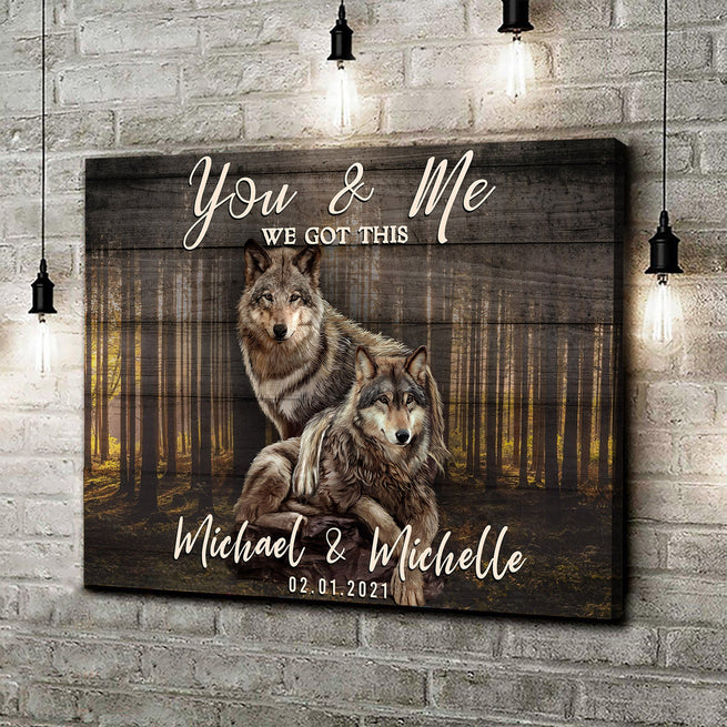 We Got This - Personalized Wolves Canvas