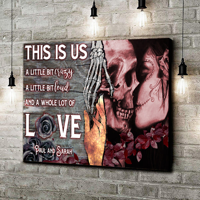 This Is Us - Personalized Skull Canvas