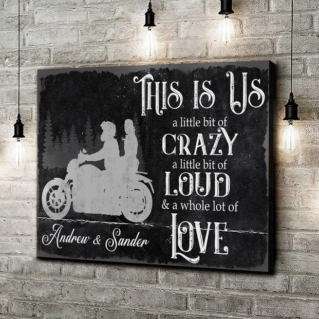 This Is Us - Personalized Couple Rides Canvas