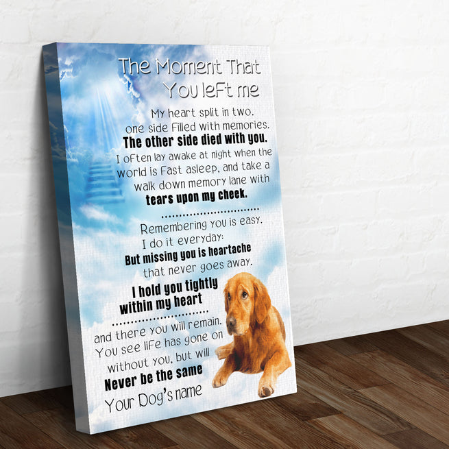 Dog Memorial Premium Canvas