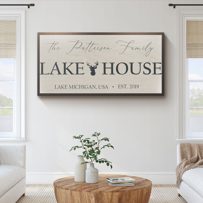 Lake House - Personalized Huge Canvas