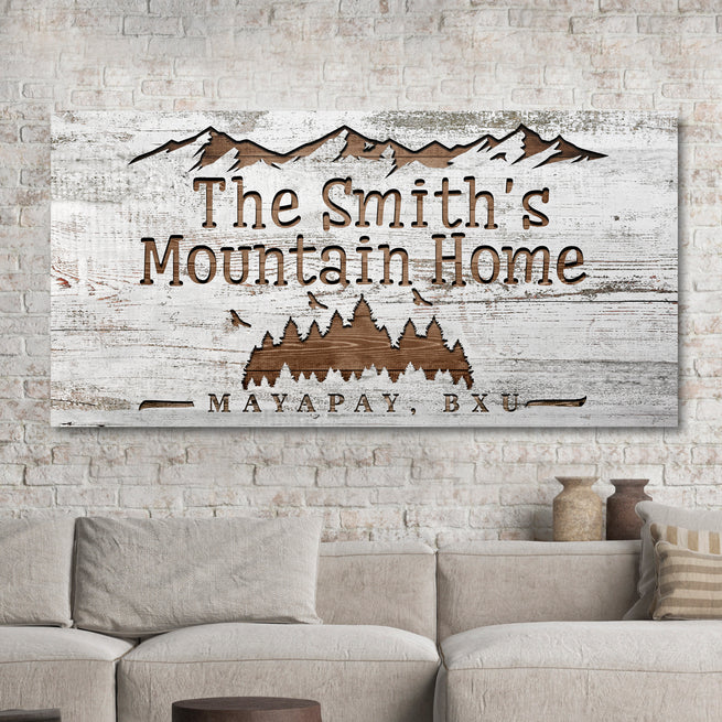 Family Mountain Home - Personalized Huge Canvas