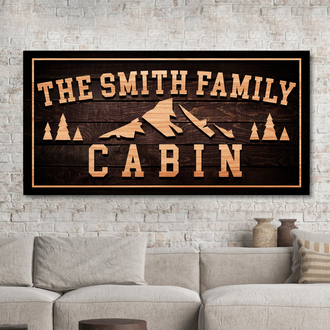 Family Cabin - Personalized Huge Canvas